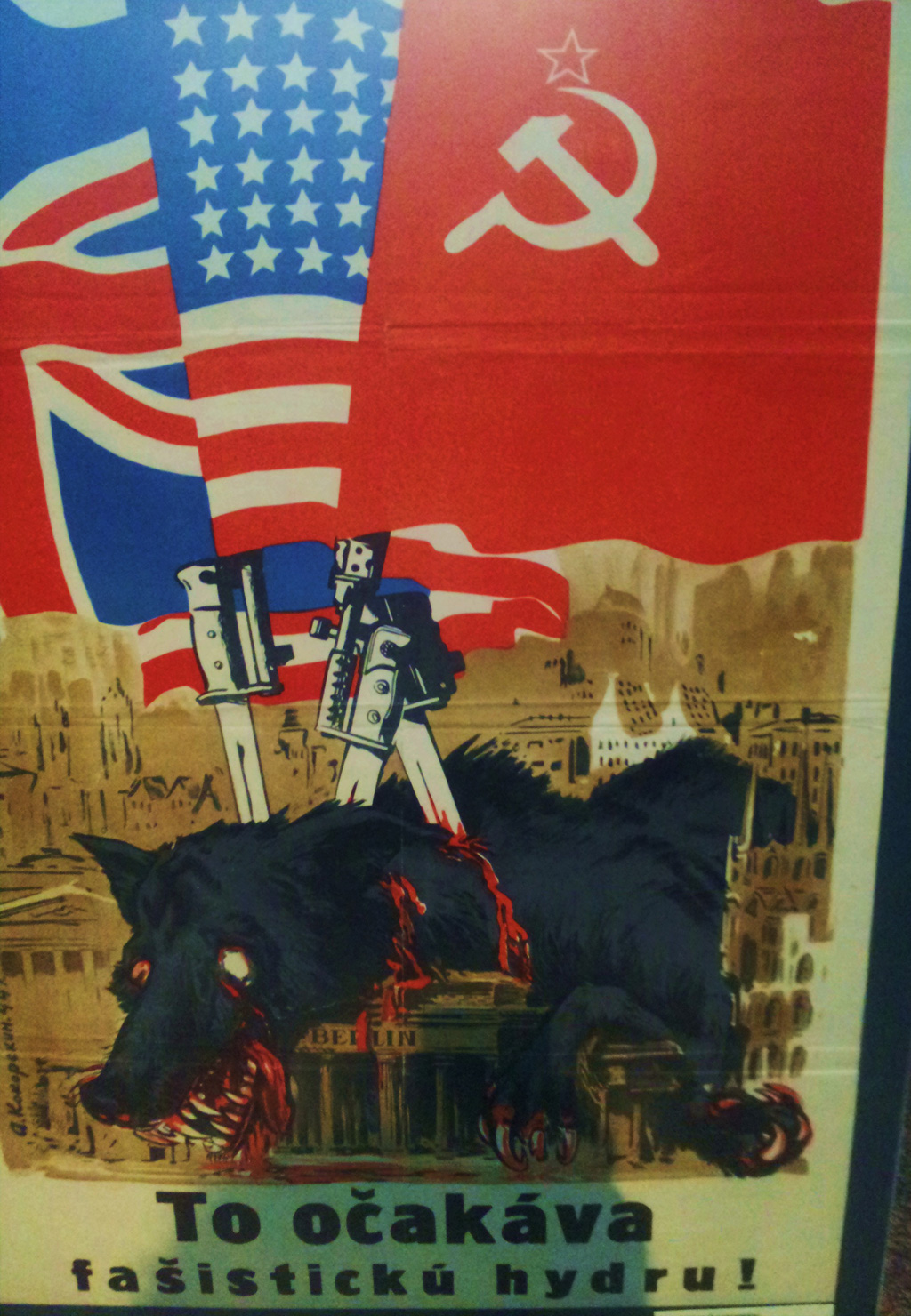 Antinazi-propaganda in het WOII-museum