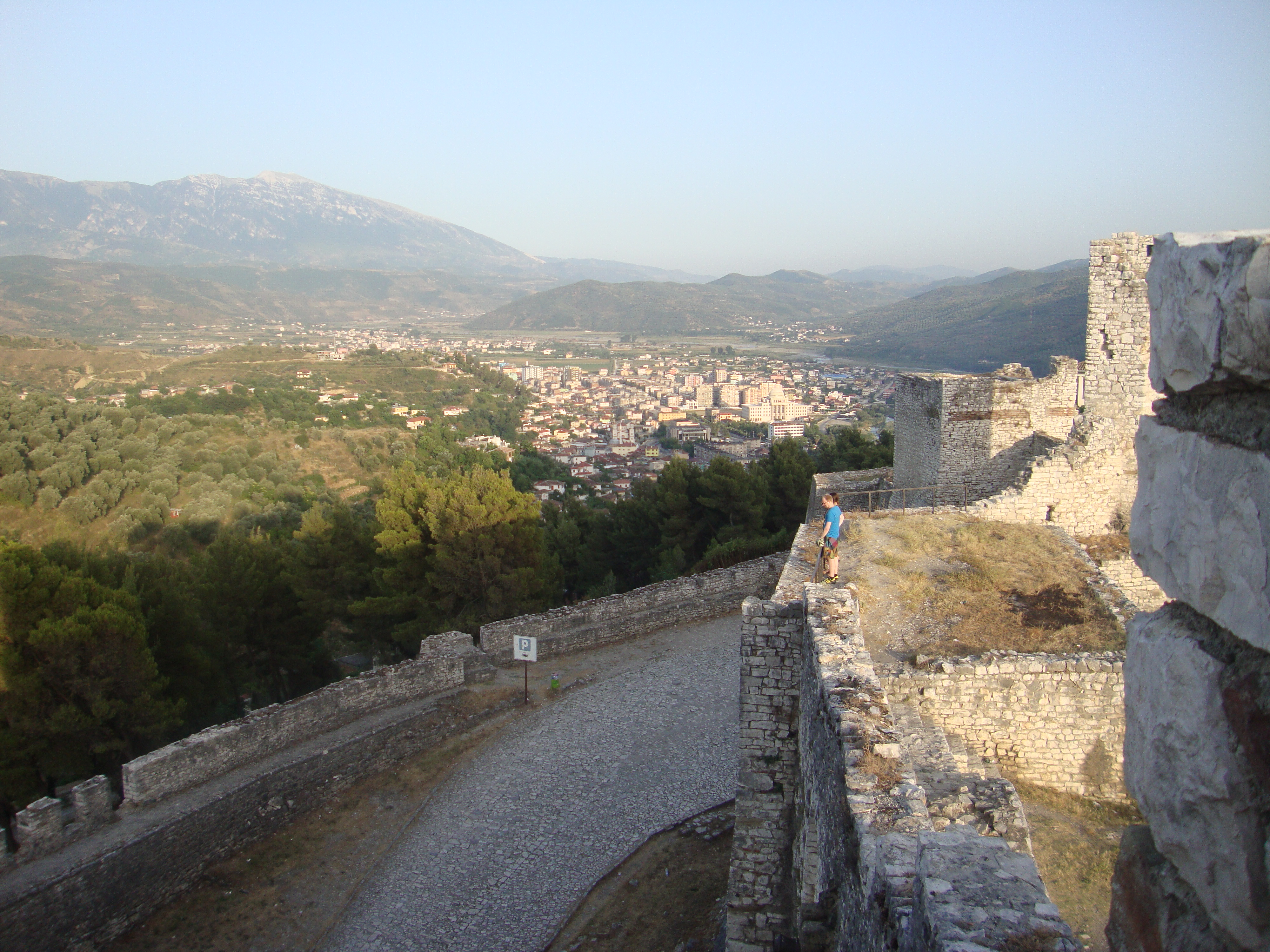 Uitzicht vanaf het oude gedeelte van Berat