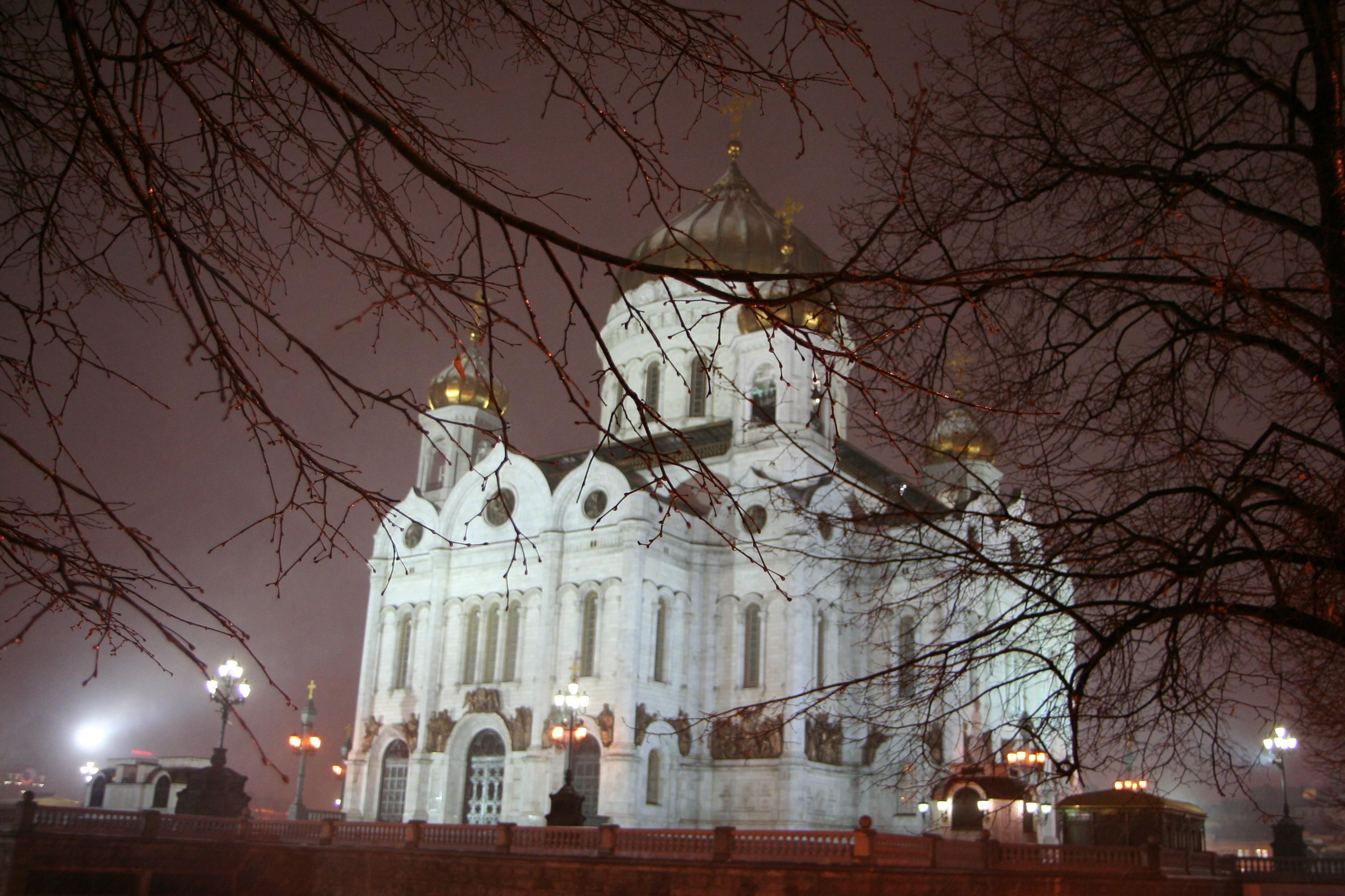Cathedraal van Christus de redder, neergehaald door Stalin en later weer opgebouwd