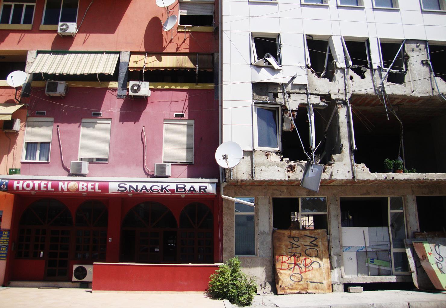 Ons eerste hotel in Tirana :-)