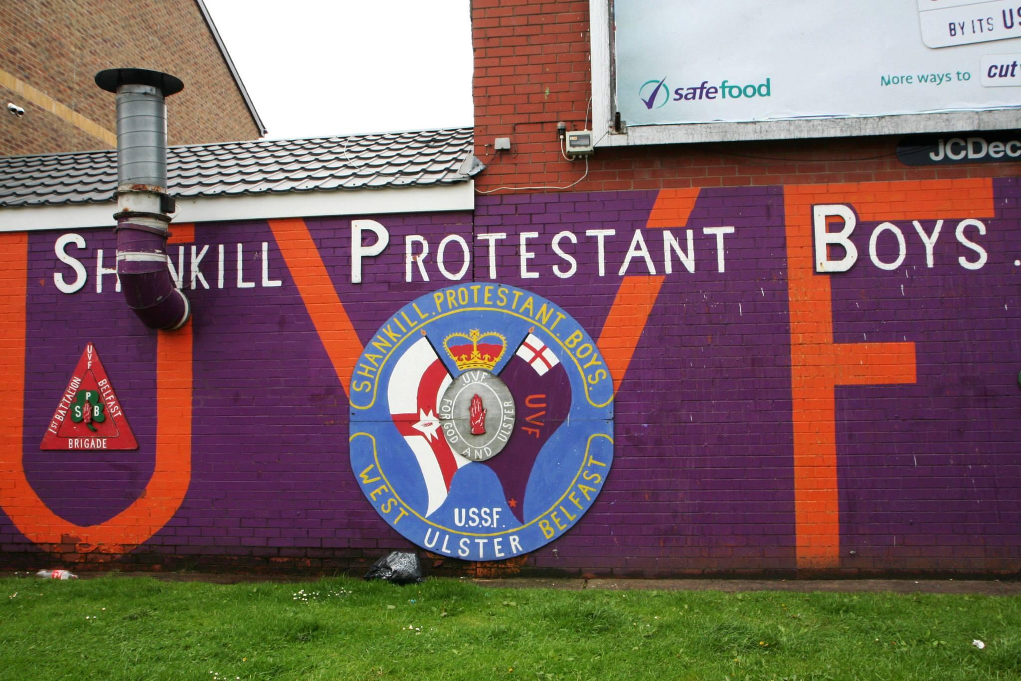 Welkomstmuur van de 'Shankill Protestant Boys'