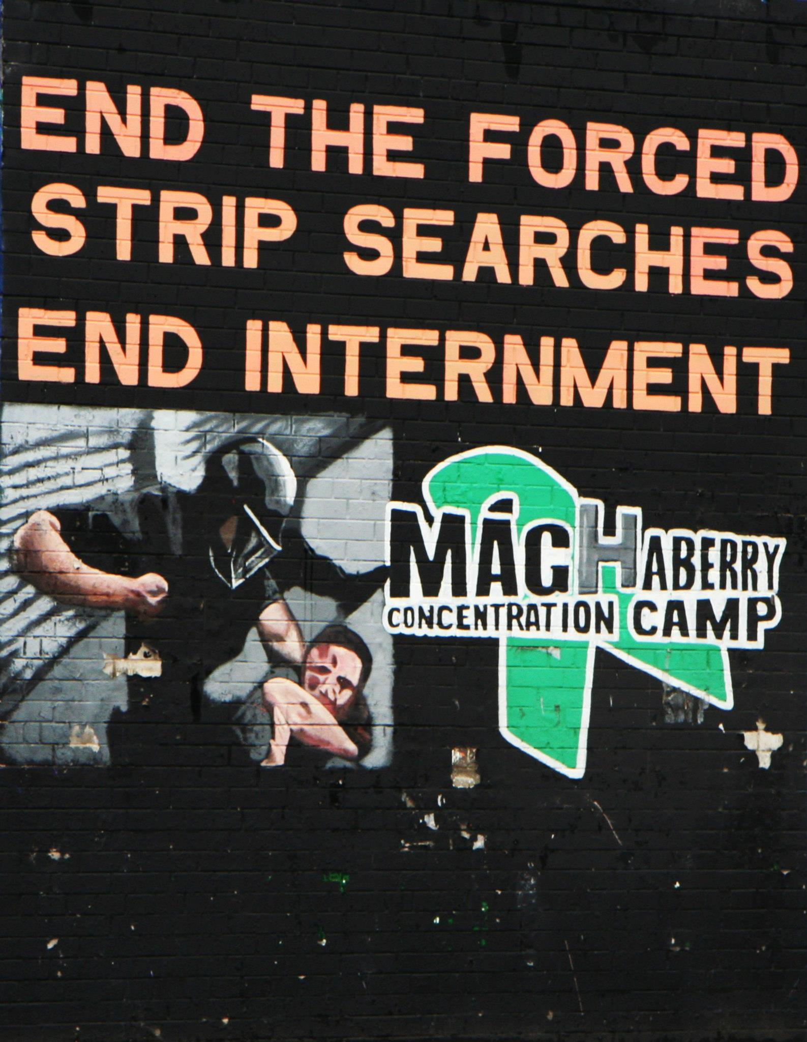 'End the forced strip searches, end internment'