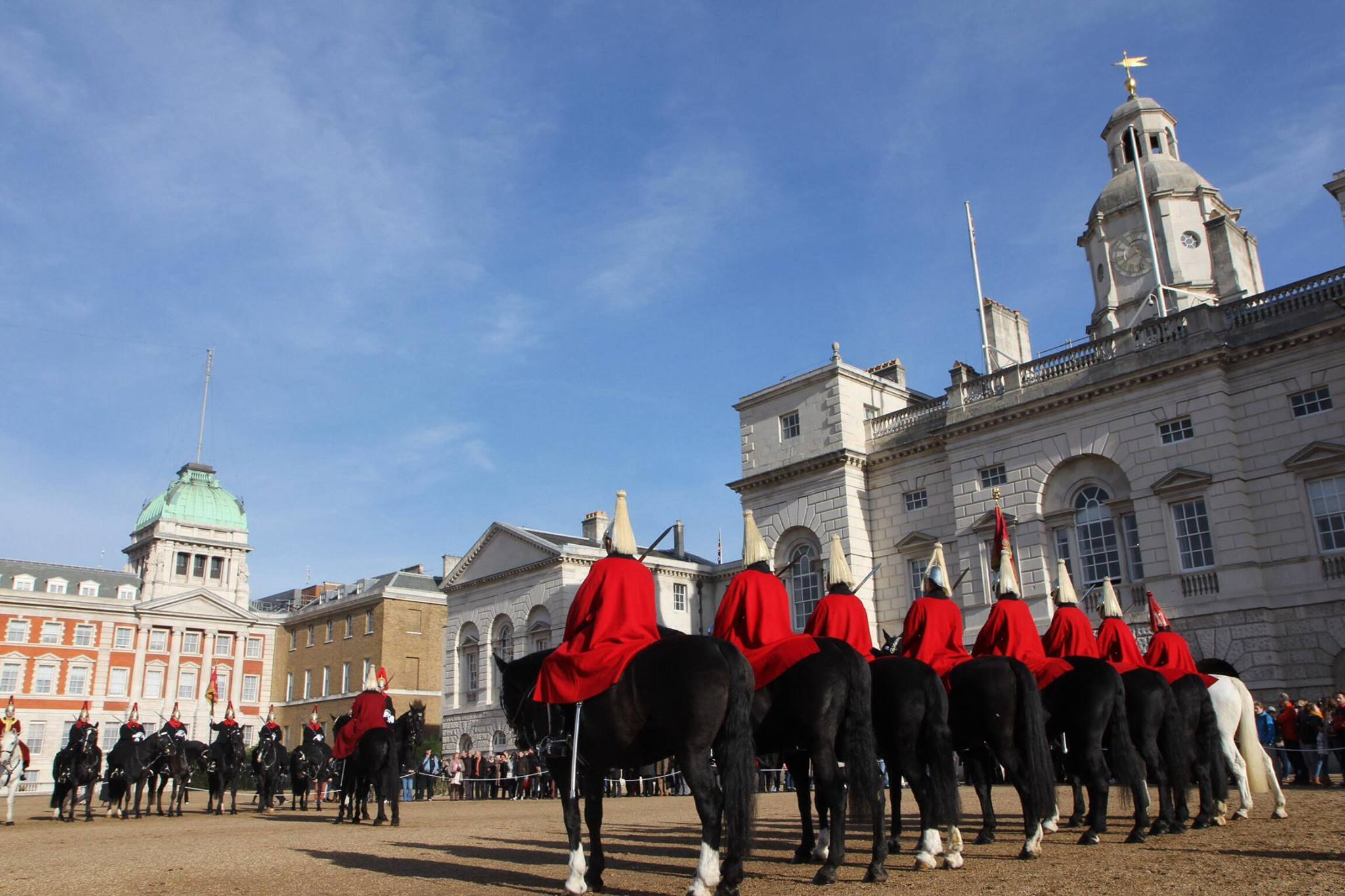De horse guards parade vlakbij Buckingham Palace