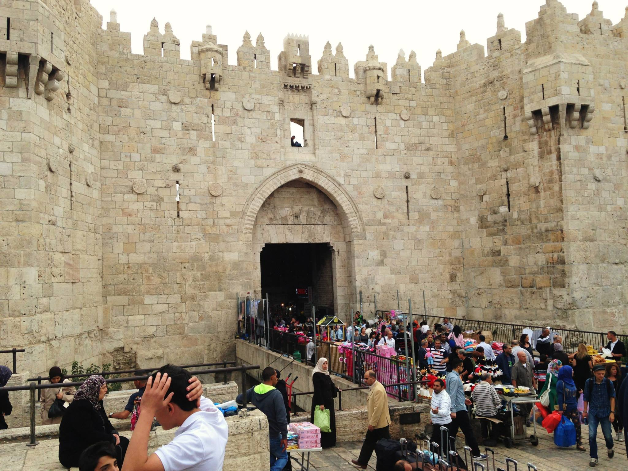 Damascus Gate of Sha'ar Sh'khem in Jerusalem