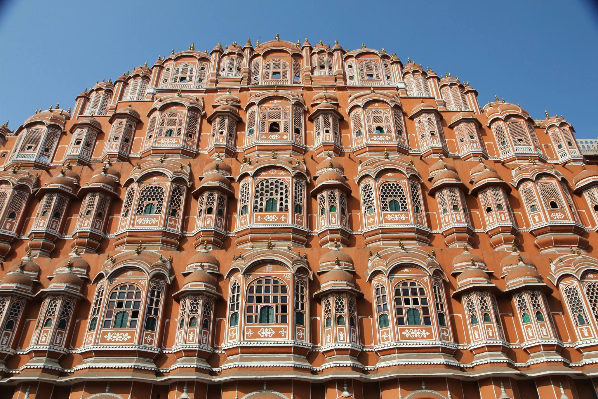 Het windpaleis in Jaipur, Rajasthan