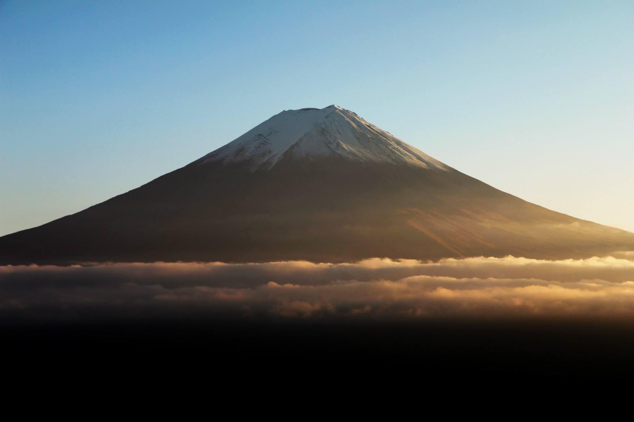 Mount Fuji, gezien vanaf Mount Tenjo in Kawakuchiko
