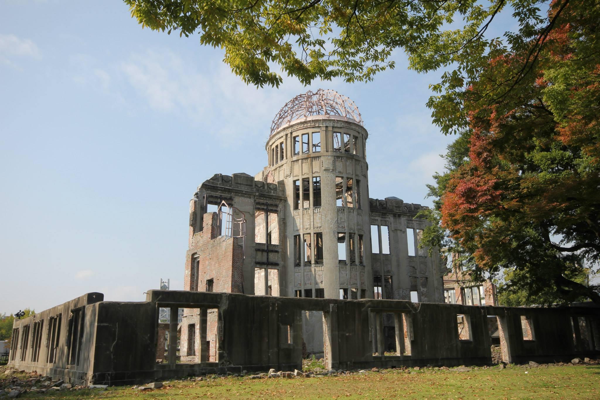 Het enige gebouw dat de atoombom heeft doorstaan in Hiroshima