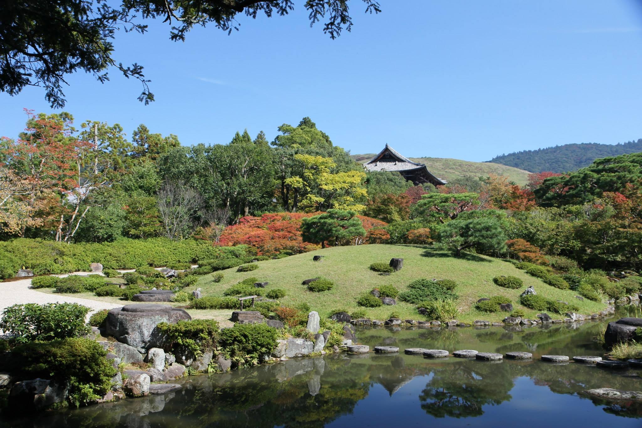 Typisch Japanse tuin in Nara