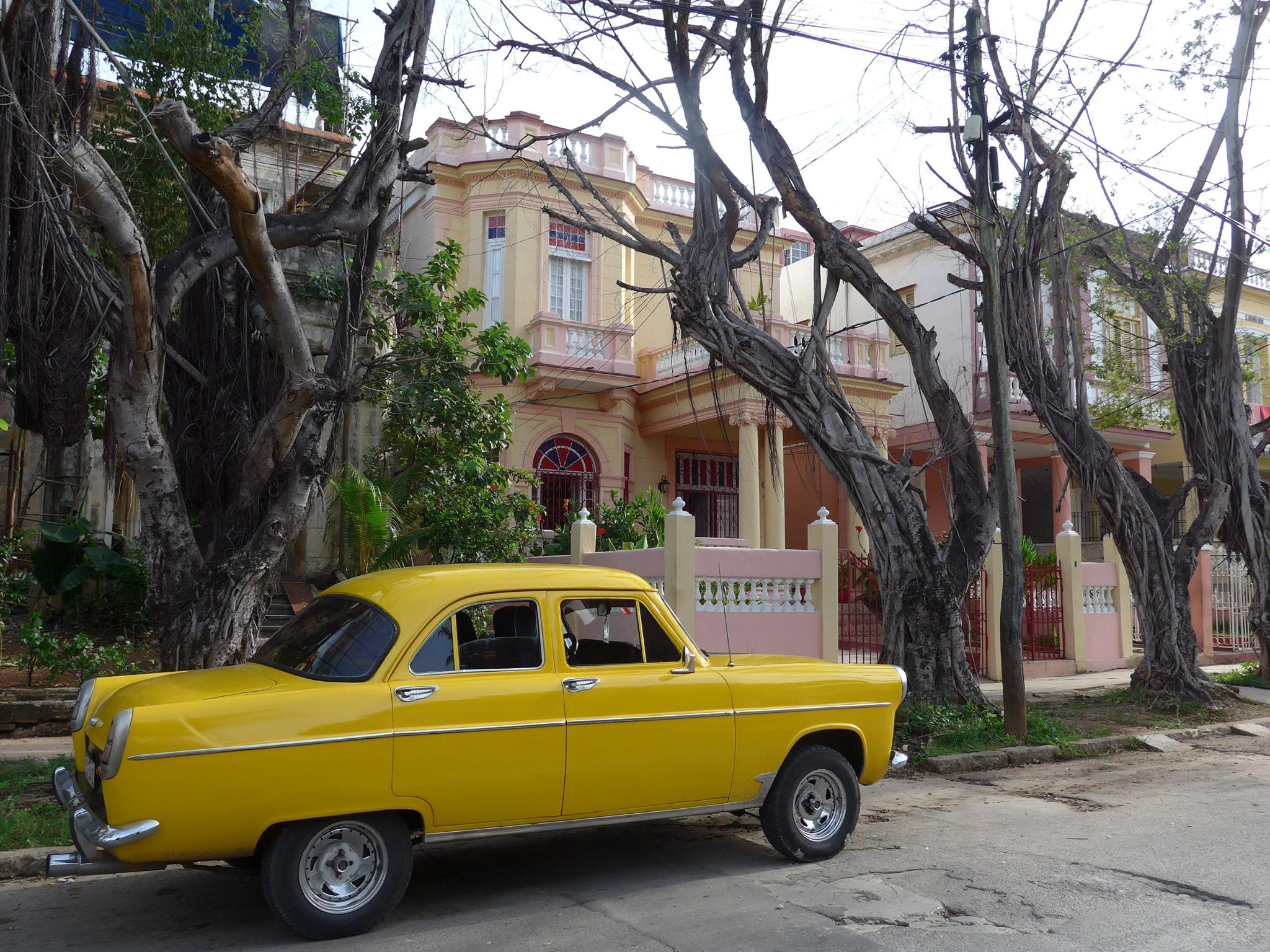 Onze eerste 'casa particular' in Havana, in de wijk Vedado.