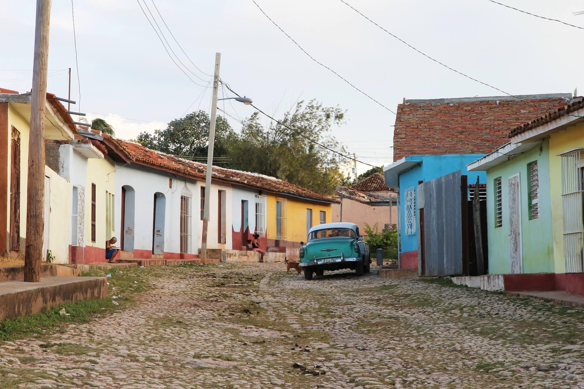 Straat in de de prachtige Cubaanse stad Trinidad.